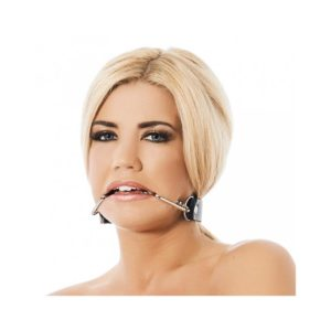 BONDAGE PLAY MOUTHGAG WITH SMILE HOOKS-ADJUSTABLE