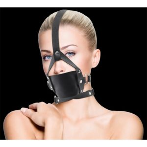 OUCH! SHOTS OUCH! LEATHER MOUTH GAG BLACK