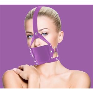 OUCH! SHOTS OUCH! LEATHER MOUTH GAG PURPLE