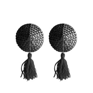OUCH! SHOTS OUCH! NIPPLE TASSELS ROUND BLACK