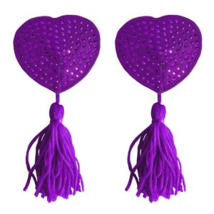 OUCH! SHOTS OUCH! NIPPLE TASSELS HEART PURPLE