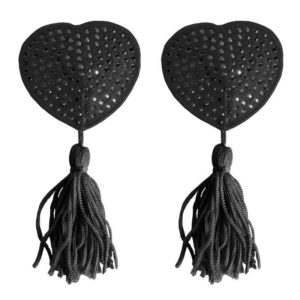 OUCH! SHOTS OUCH! NIPPLE TASSELS HEART BLACK