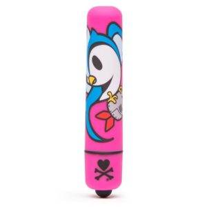 TOKIDOKI SINGLE SPEED MINI BULLET VIBRATOR PINK BOMB BIRD