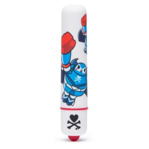 TOKIDOKI SINGLE SPEED MINI BULLET VIBRATOR WHITE ROBOT