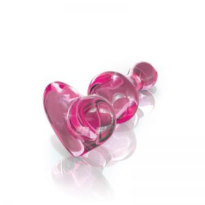 ICICLES No. 75 HAND BLOWN GLASS MASSAGER PINK