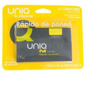 UNIQ PULL LATEX FREE CONDOMS 3UNITS