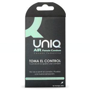 UNIQ AIR FEMALE CONDOM 3UNITS